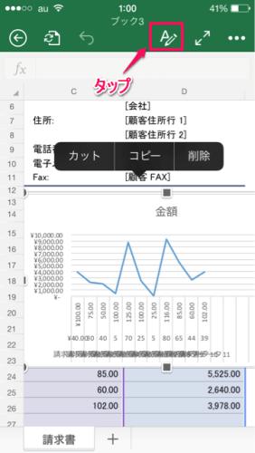 グラフ種類変更①