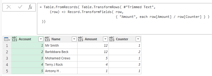 Transform Column using custom function in Power Query (part