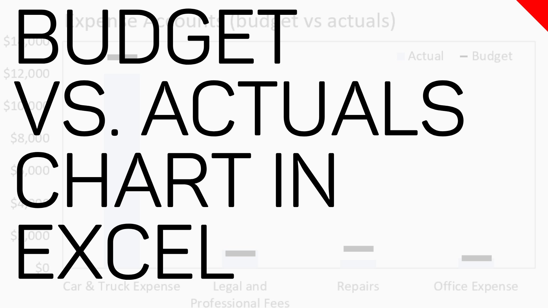 Budgets Vs Actuals Target Chart In Microsoft Excel Excel