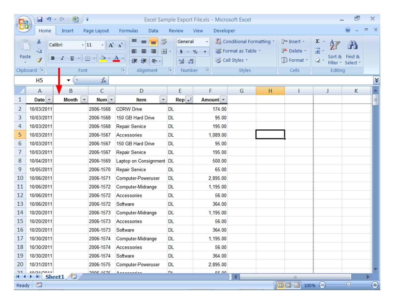 Pivot Table And Pivot Chart Tutorial Step 3