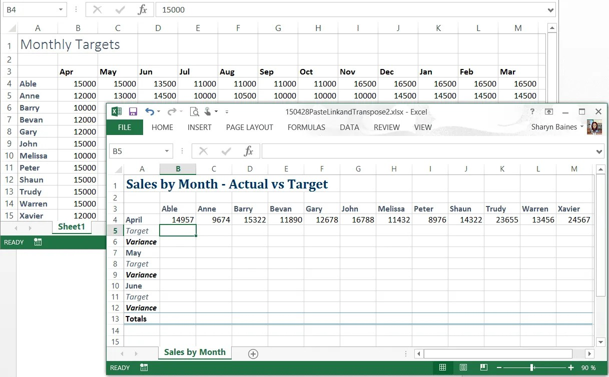 Excel P Ste L K Nd P Ste Speci L Tr Nspose Your D T Excel