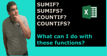 SUMIF COUNTIF SUMIFS COUNTIFS | Summing and Counting with Criteria
