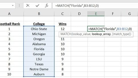 Match Function And It Uses In Excel
