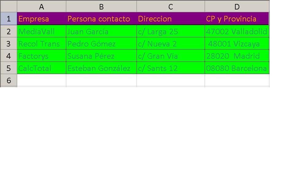 filtrar datos en Excel
