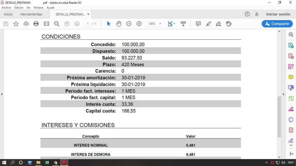 Obtener datos de pdf a Excel