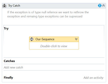 UiPath Rethrow Example 3