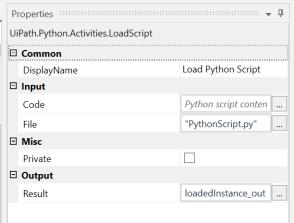 UiPath Execute Python Script 4