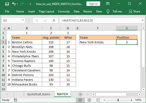 How To Use Index And Match Functions In Excel For Complex