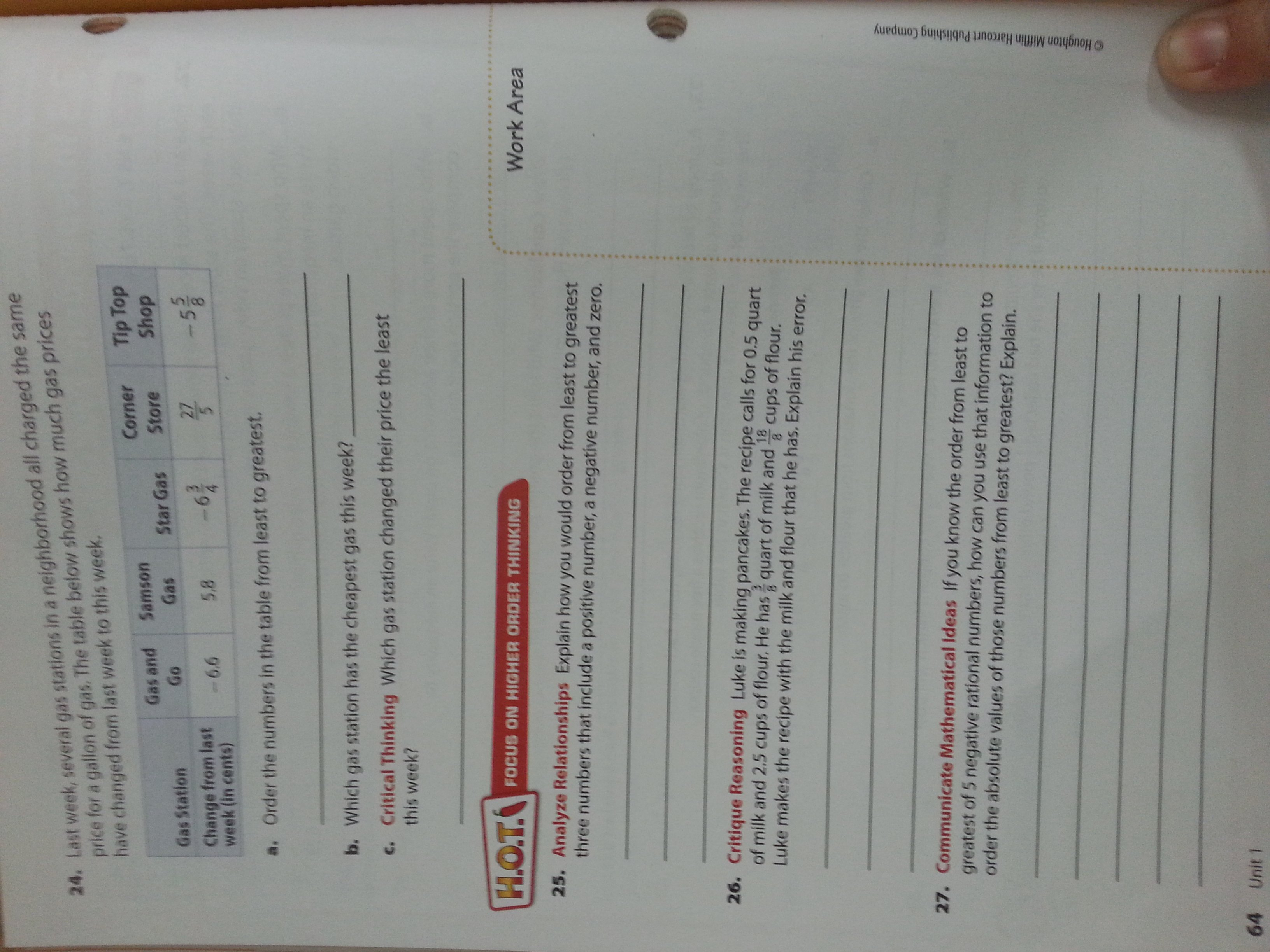 Independent Practice Math Worksheet Answers