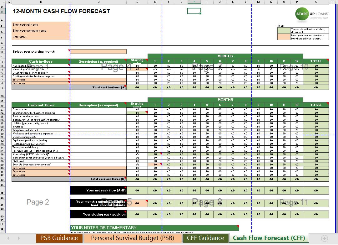 Cash Flow Template Excel