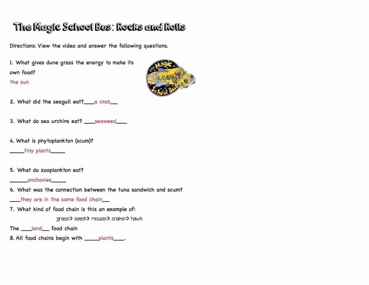 Bill Nye The Science Guy Energy Worksheet Answers