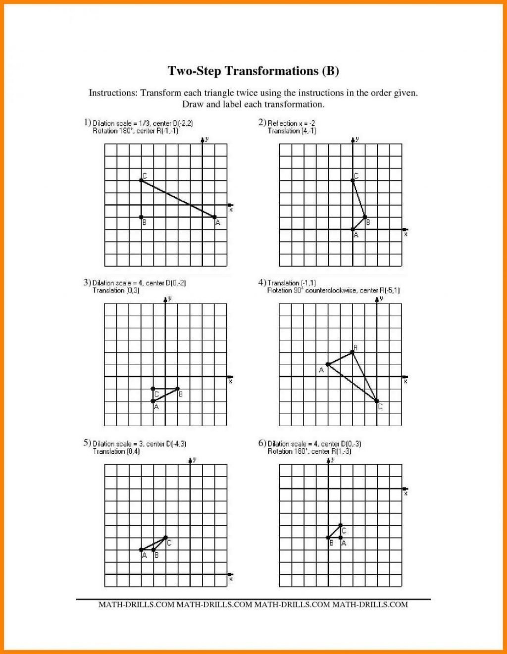 Dilation And Scale Factor Worksheet Answers