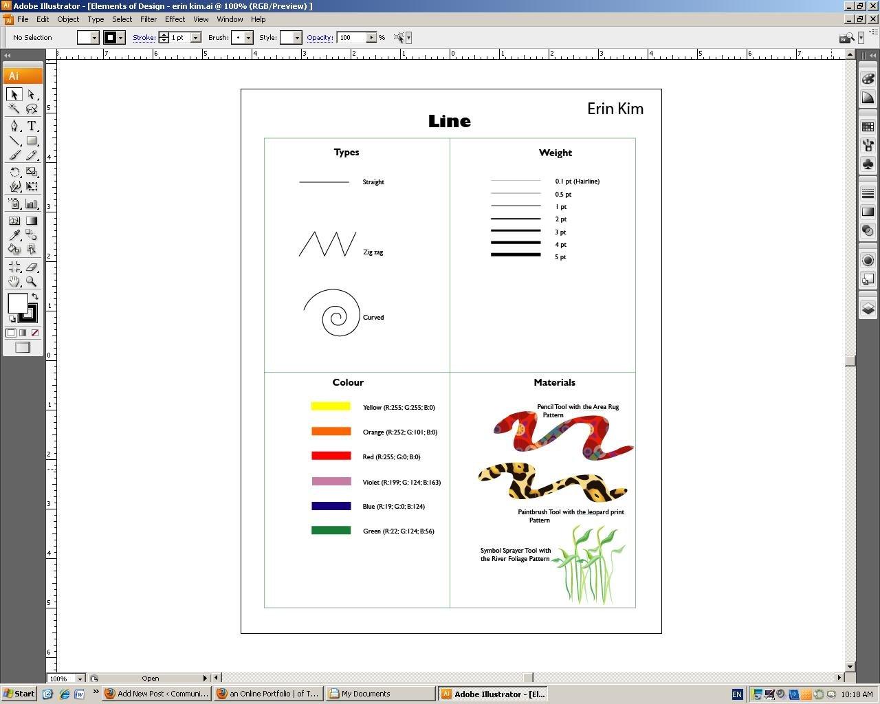 Adobe Illustrator Worksheets