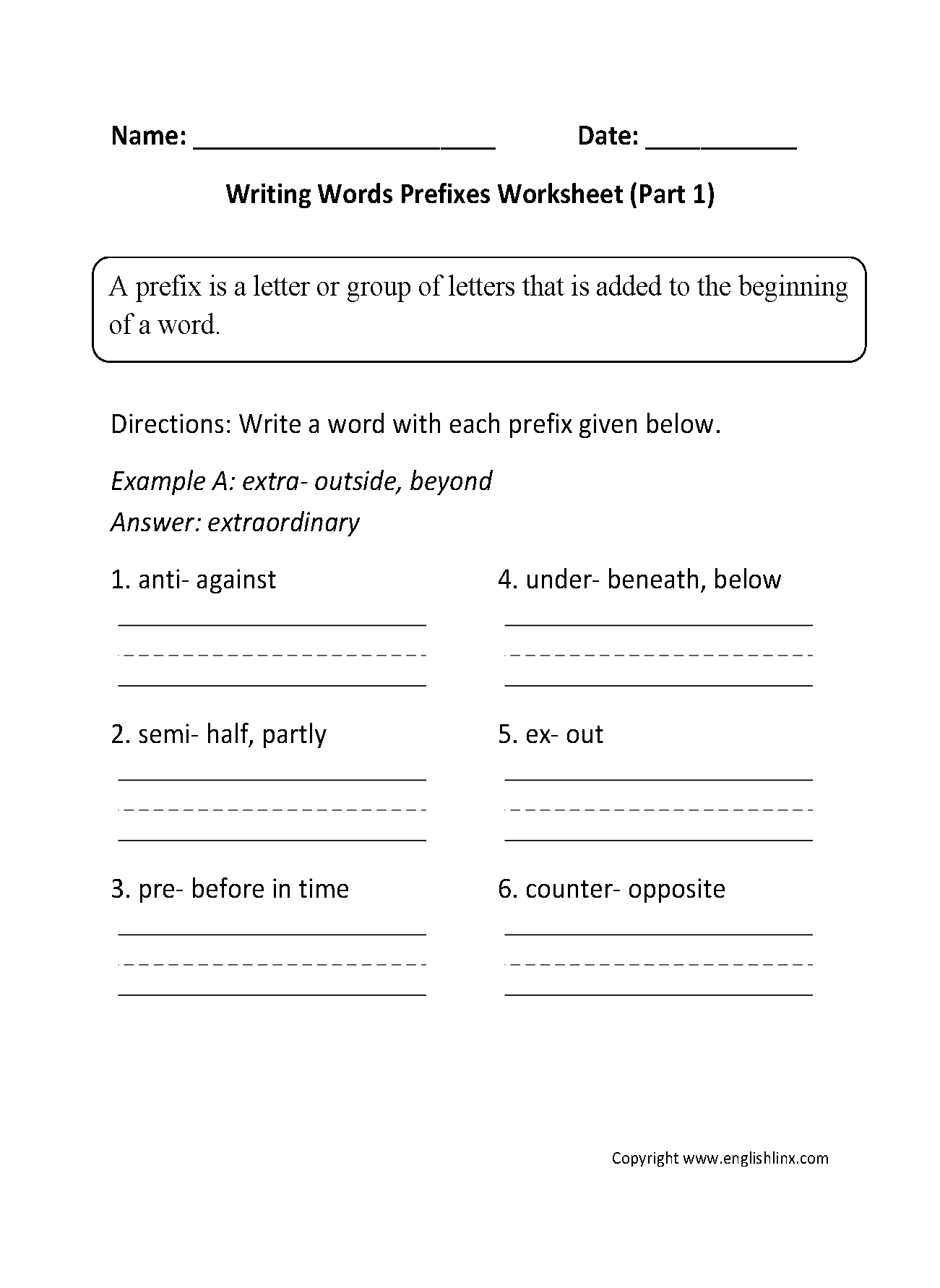 5th Grade Tutoring Worksheets