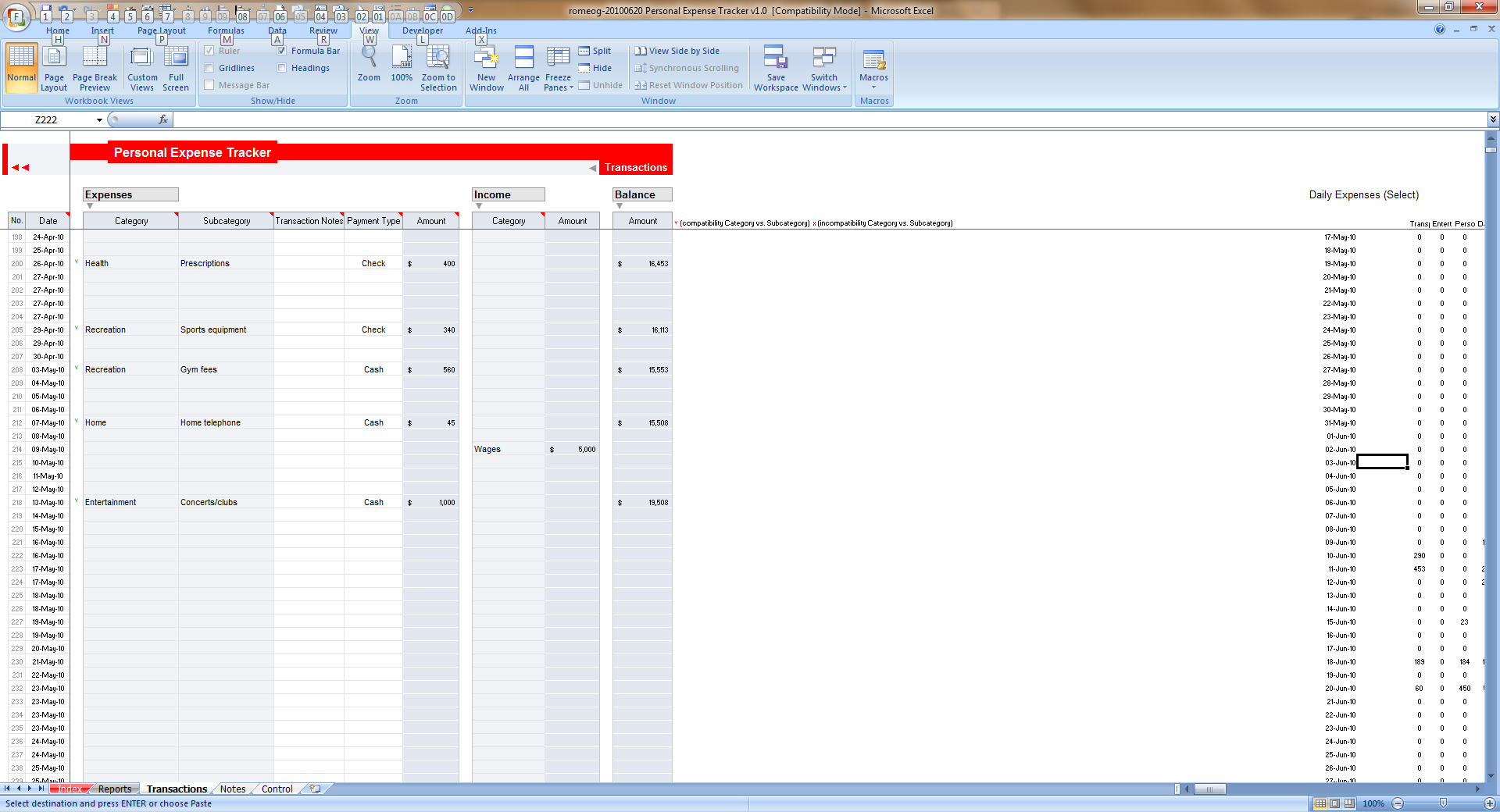 Expense Tracker Xls Demir Iso Consulting Inside Daily