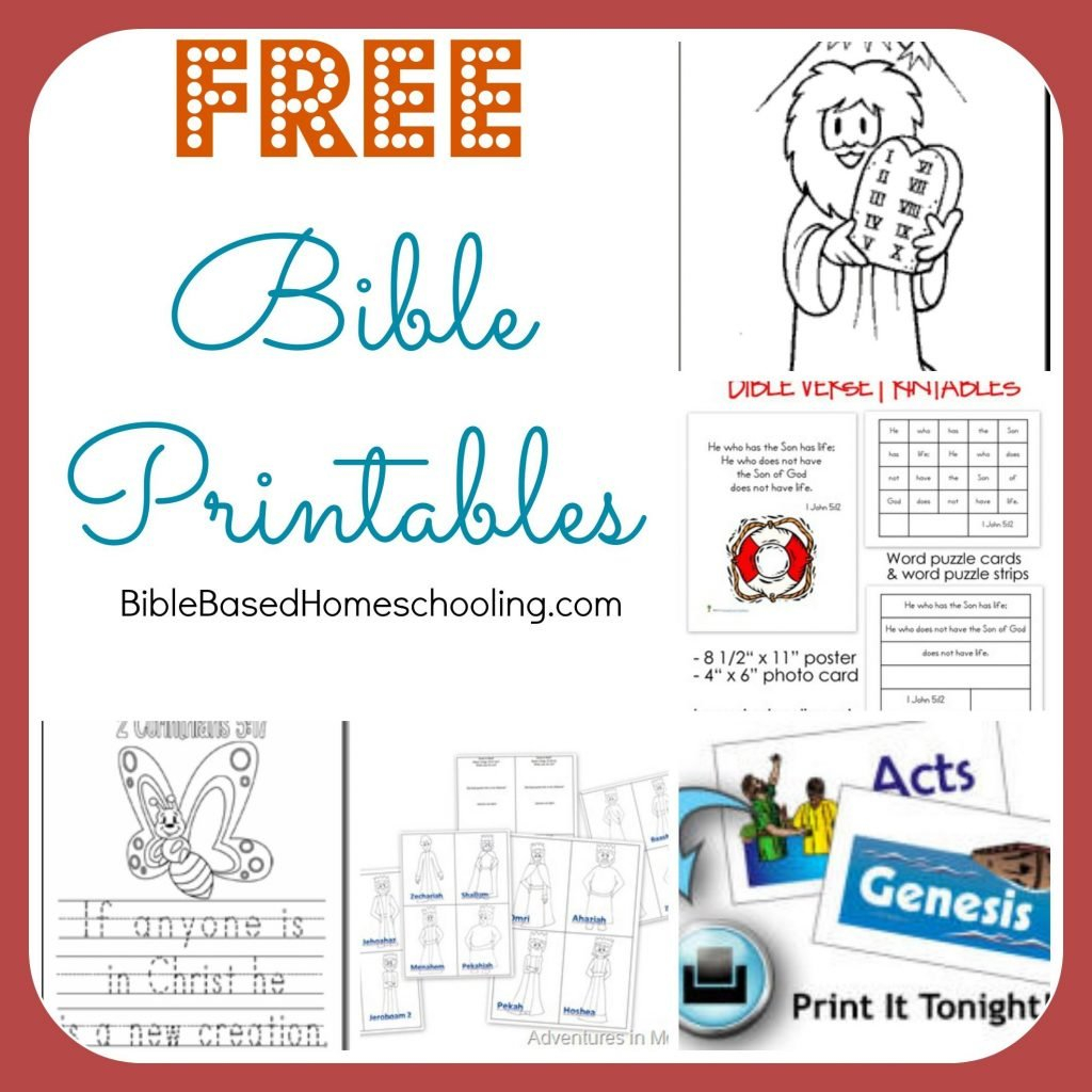 Free Printable Children039s Bible Lessons Worksheets