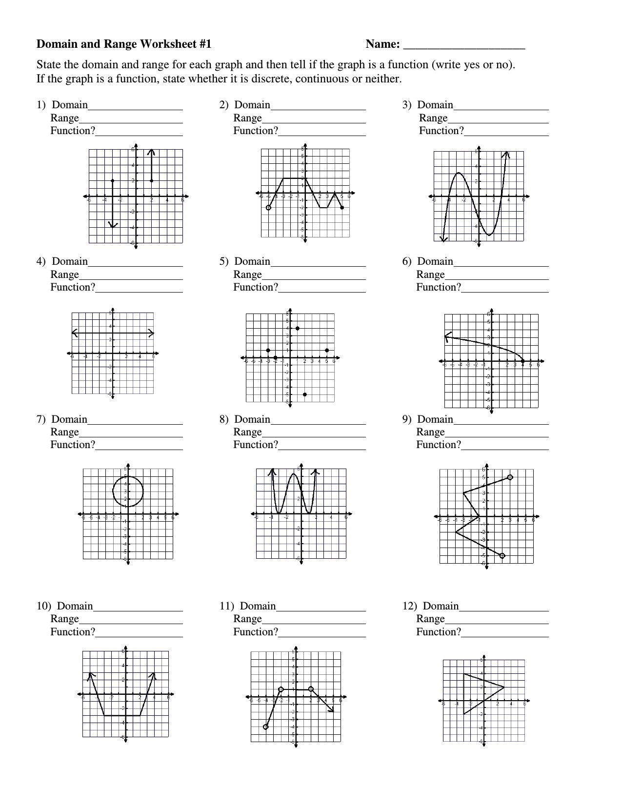 Graphing Rational Functions Worksheet Answers
