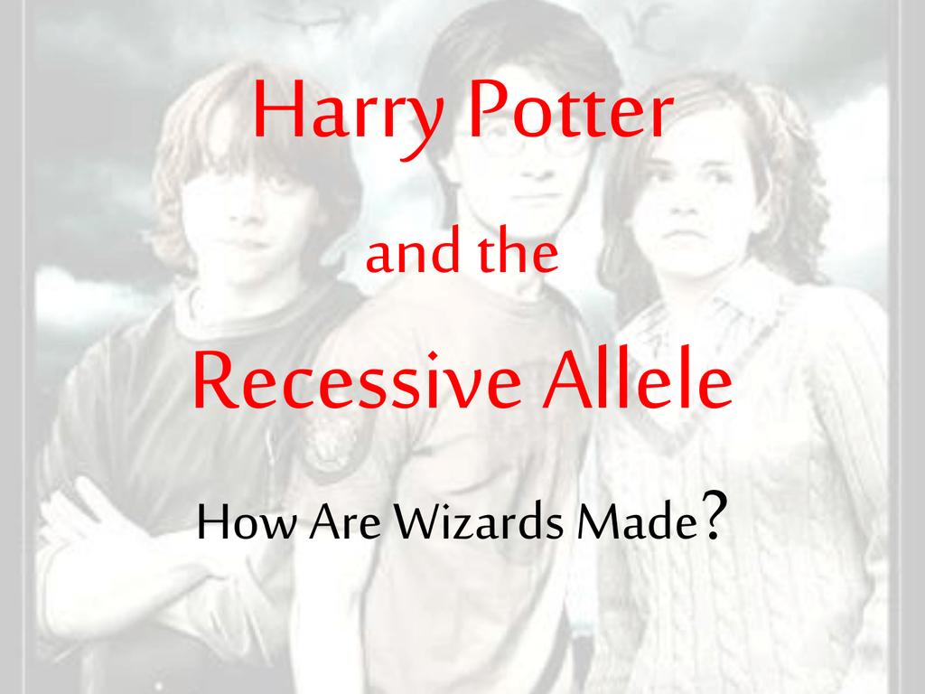 Harry Potter Genetics Intended For Harry Potter Genetics