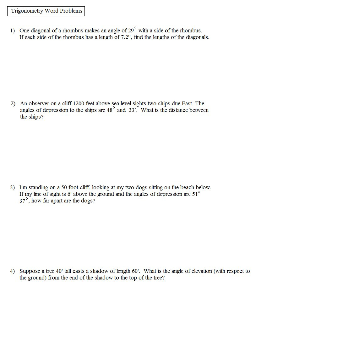 Inverse Function Word Problems Worksheet