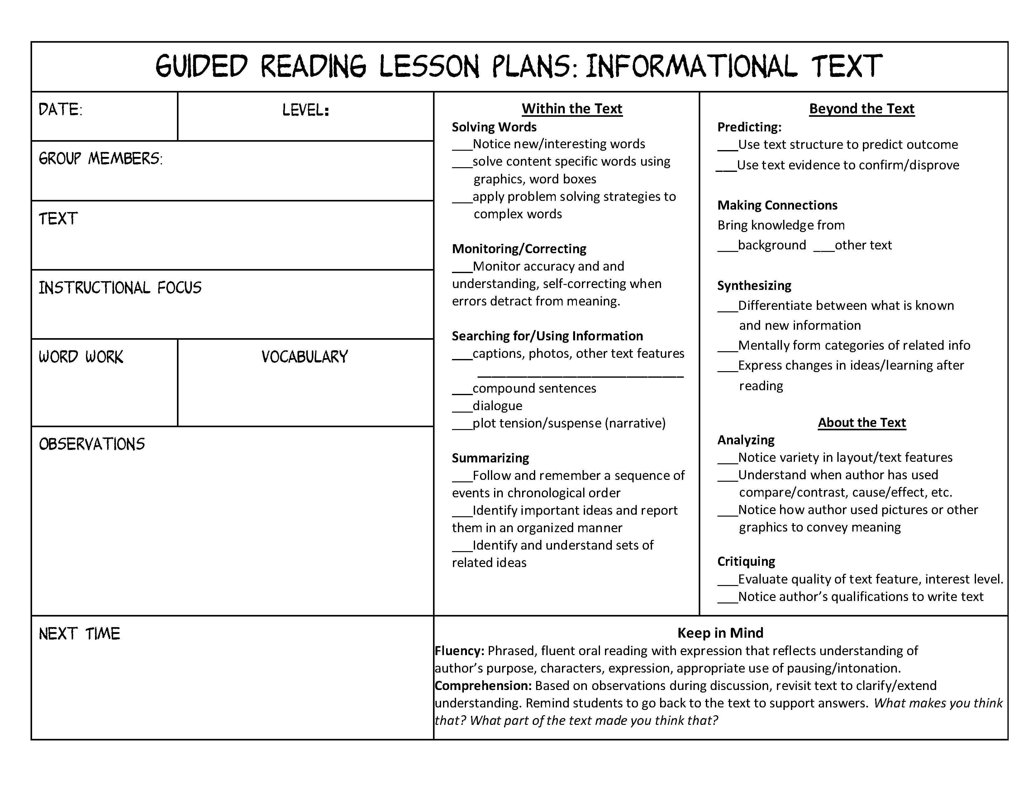 Nonfiction Text Features Worksheet