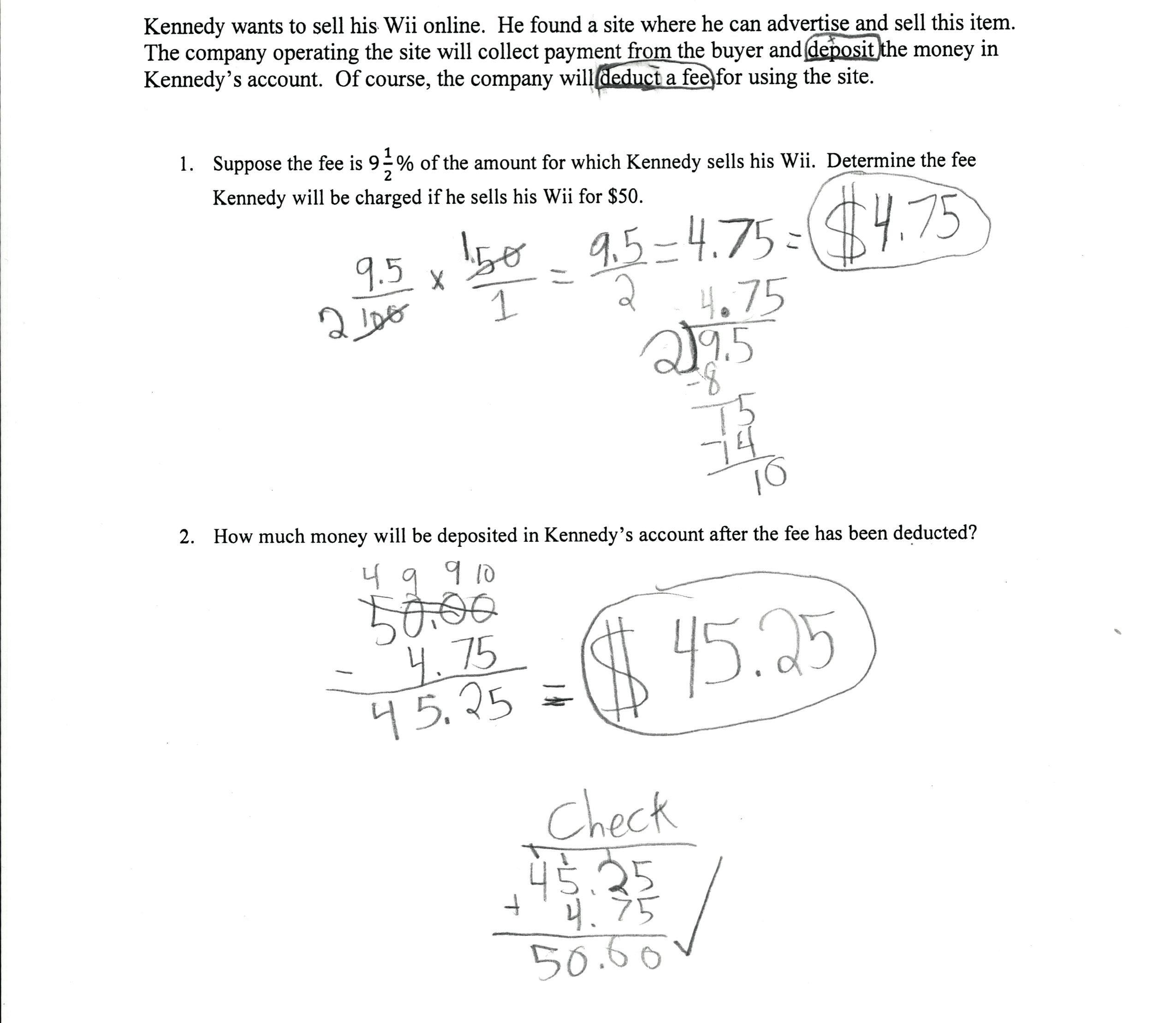Markup And Markdown Worksheet