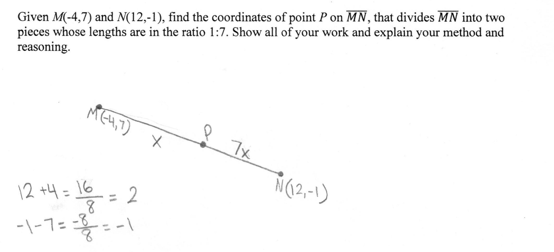 Partitioning A Line Segment Worksheet