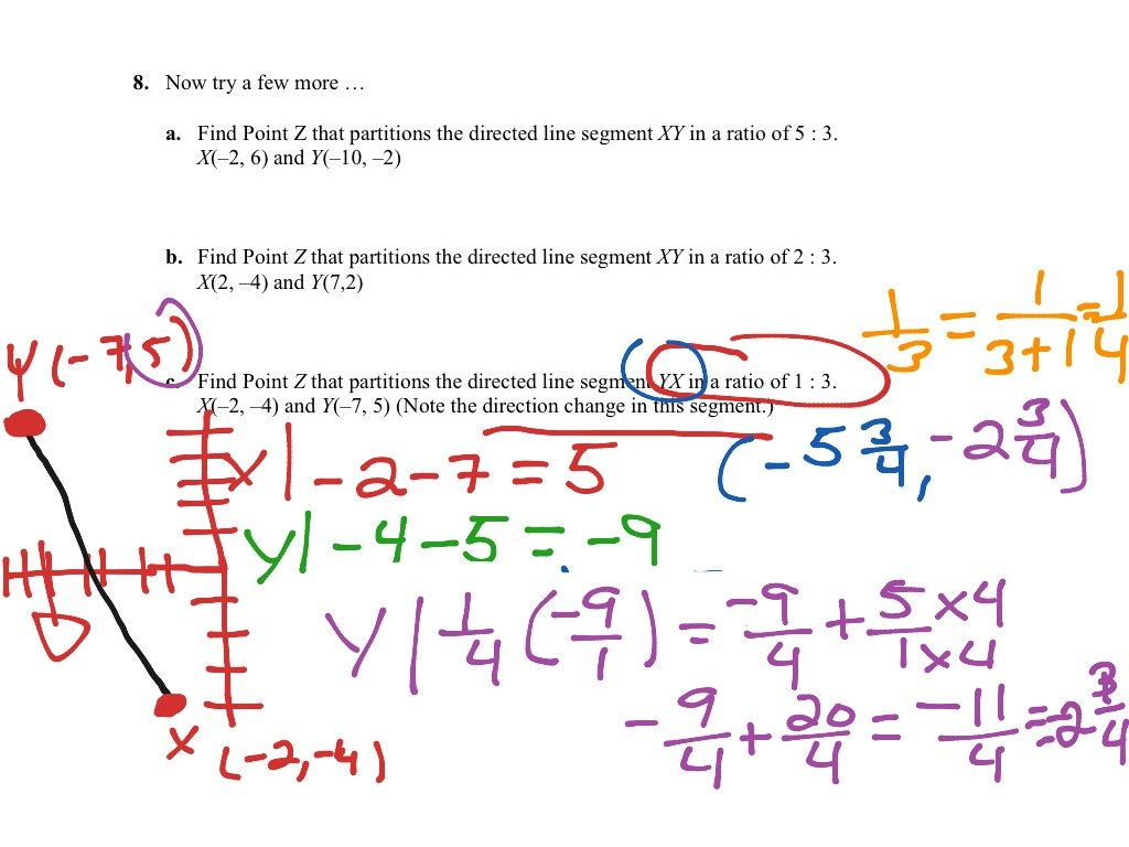 Partitioning A Line Segment Worksheet Answers