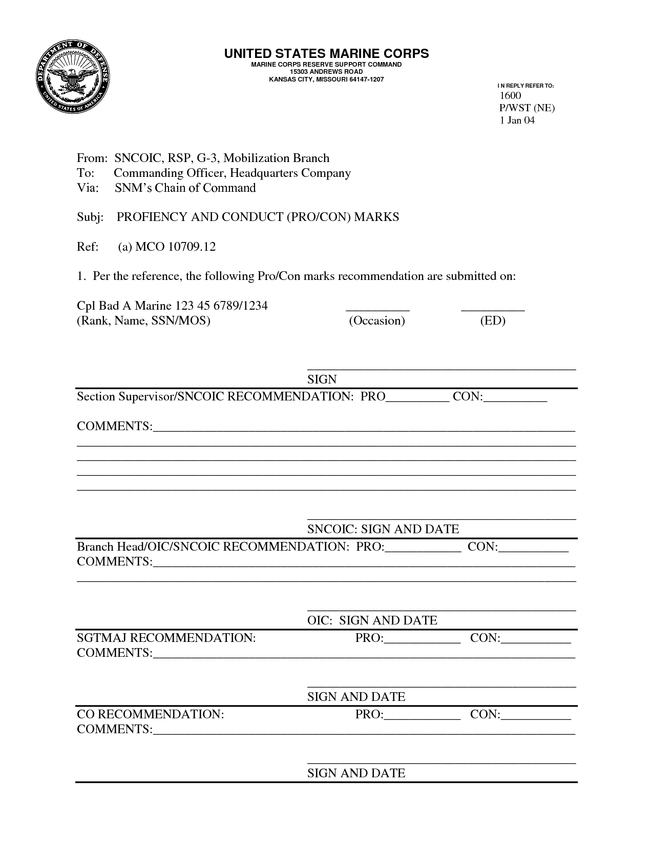 Usmc Pros And Cons Worksheet