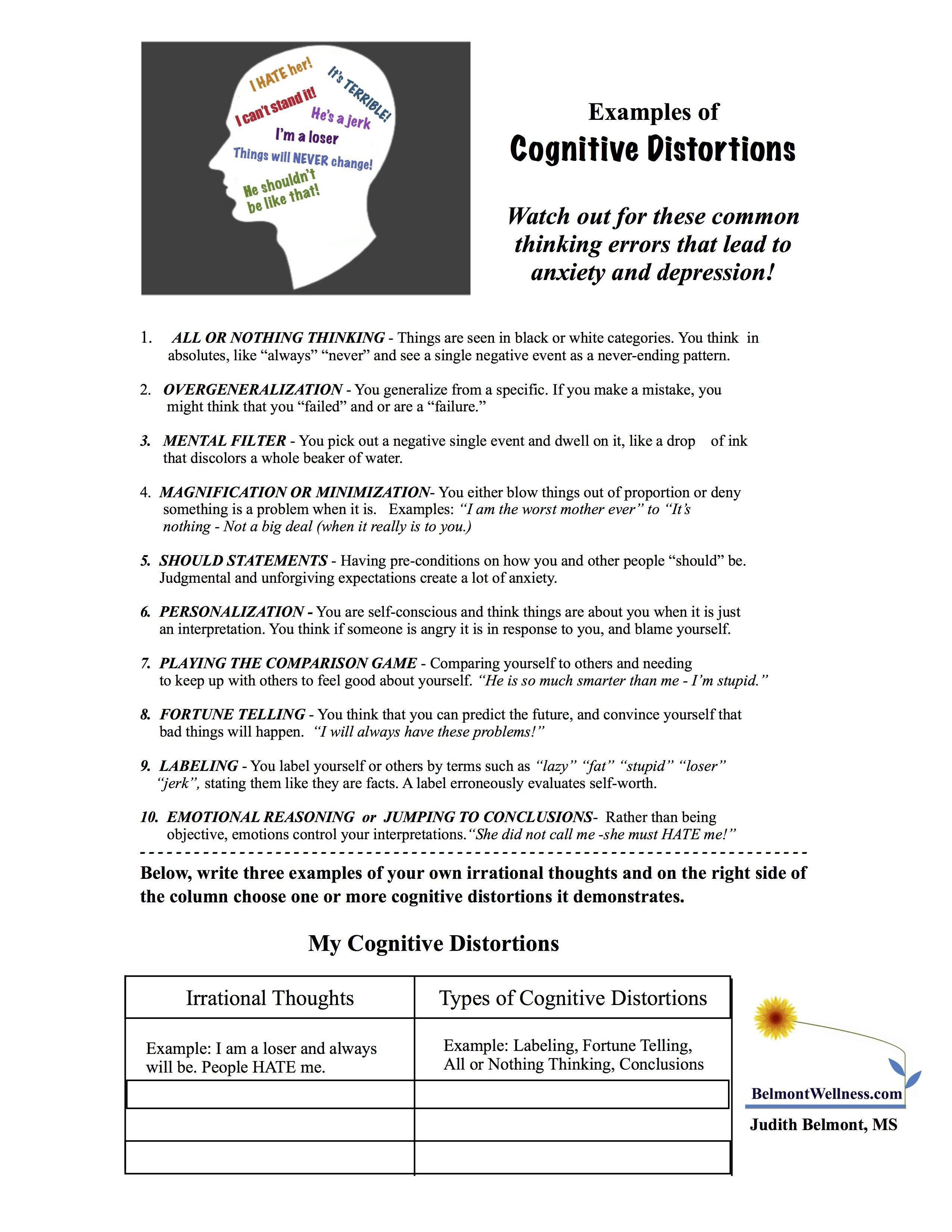 Free Addiction Counseling Worksheets