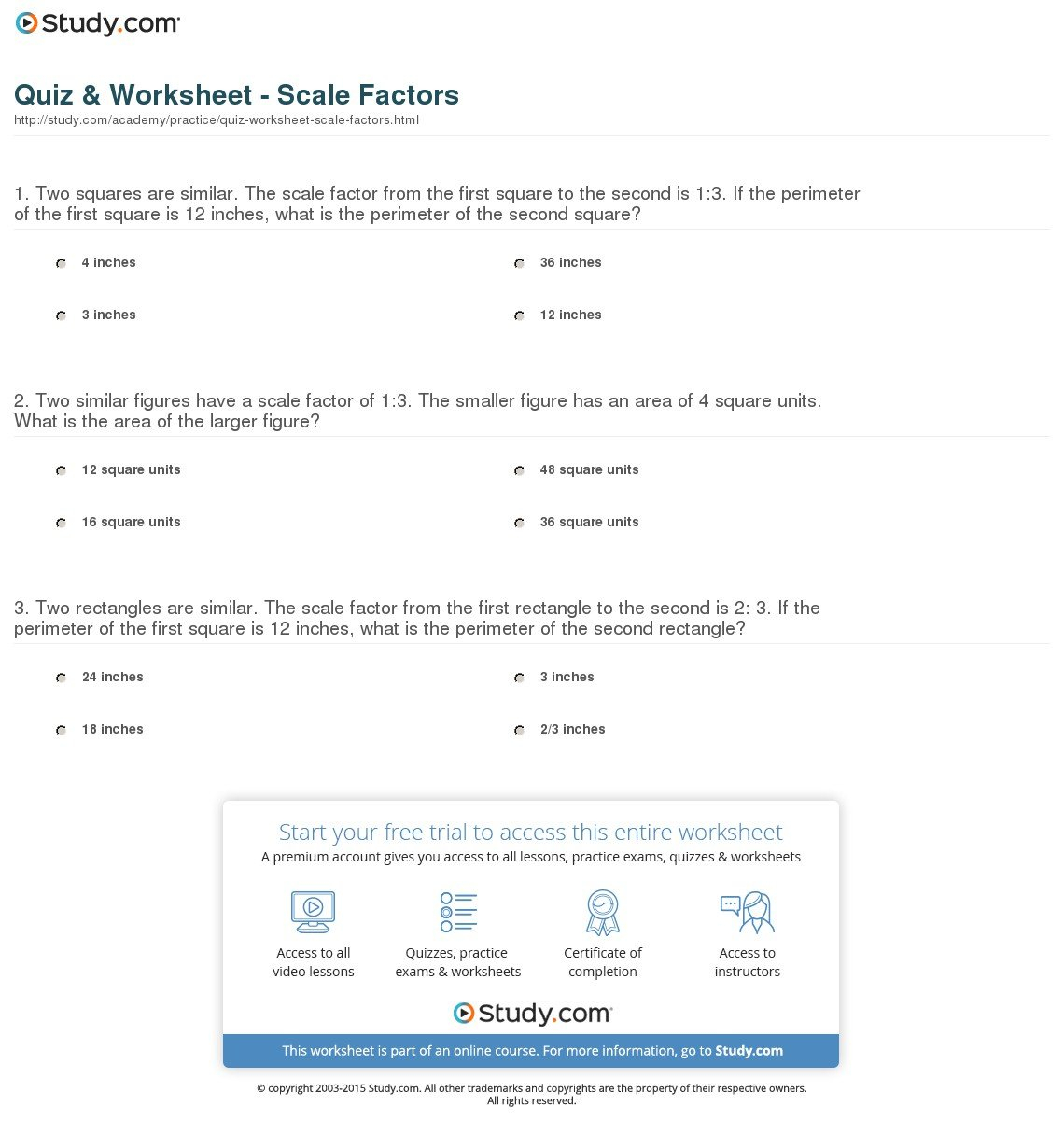 Scale Practice Worksheet