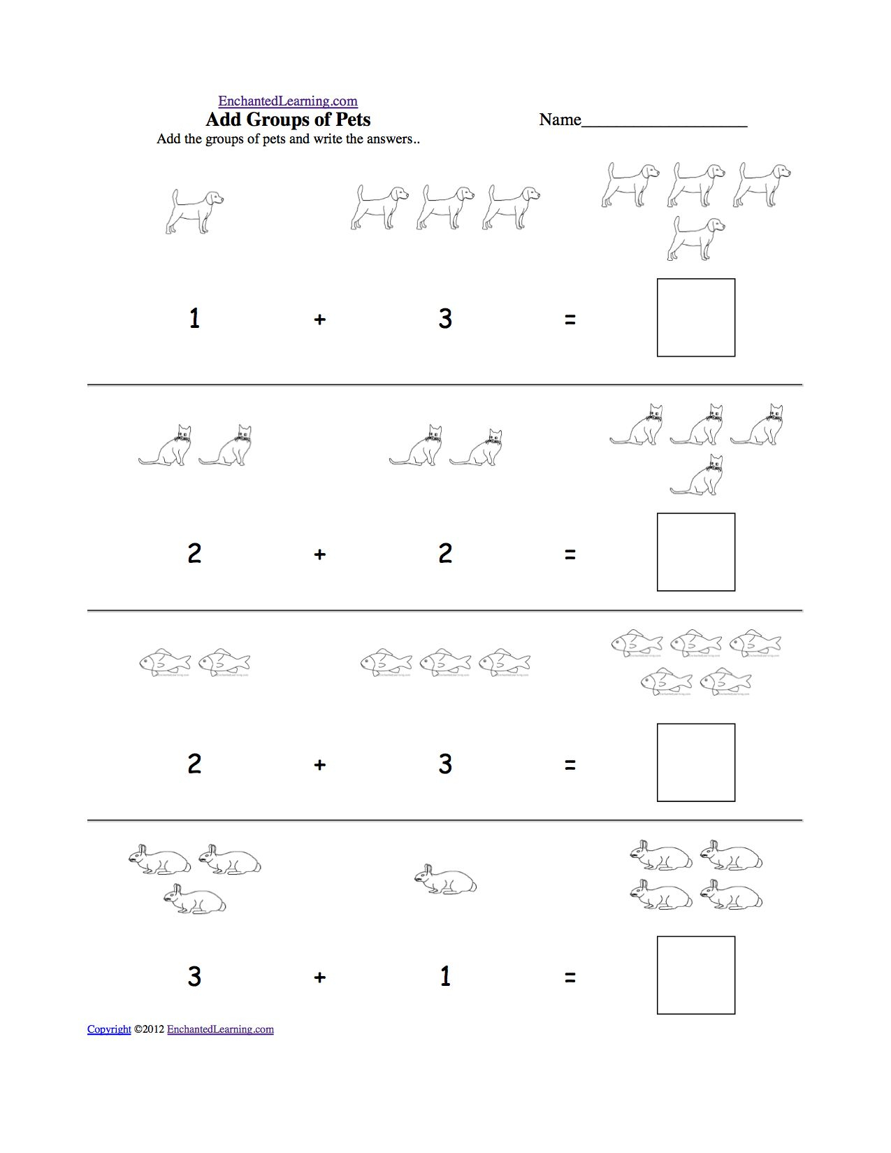Russian Math Worksheets