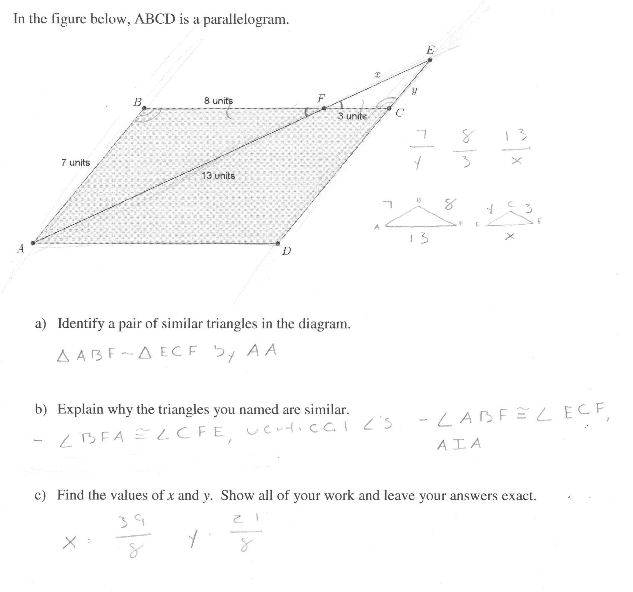 Similar Figures Worksheet Answers Finding Missing