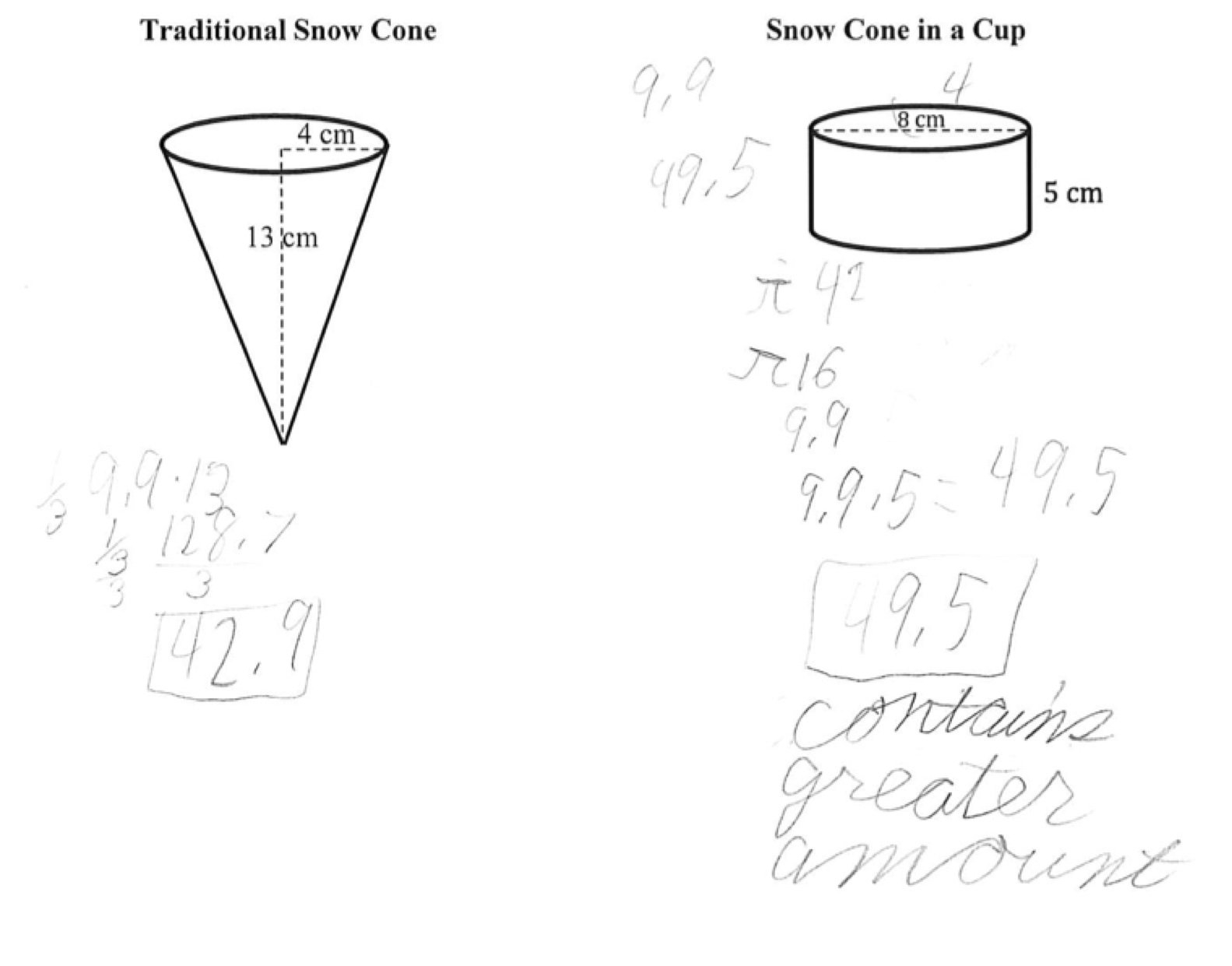 Volume Cylinder Worksheet Answers
