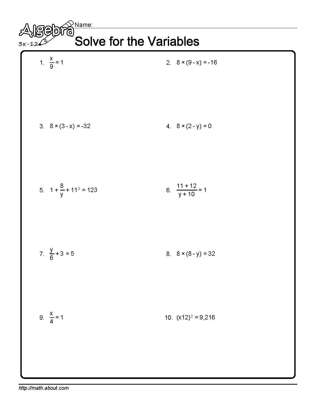 Systems Of Equations Substitution Method 3 Variables