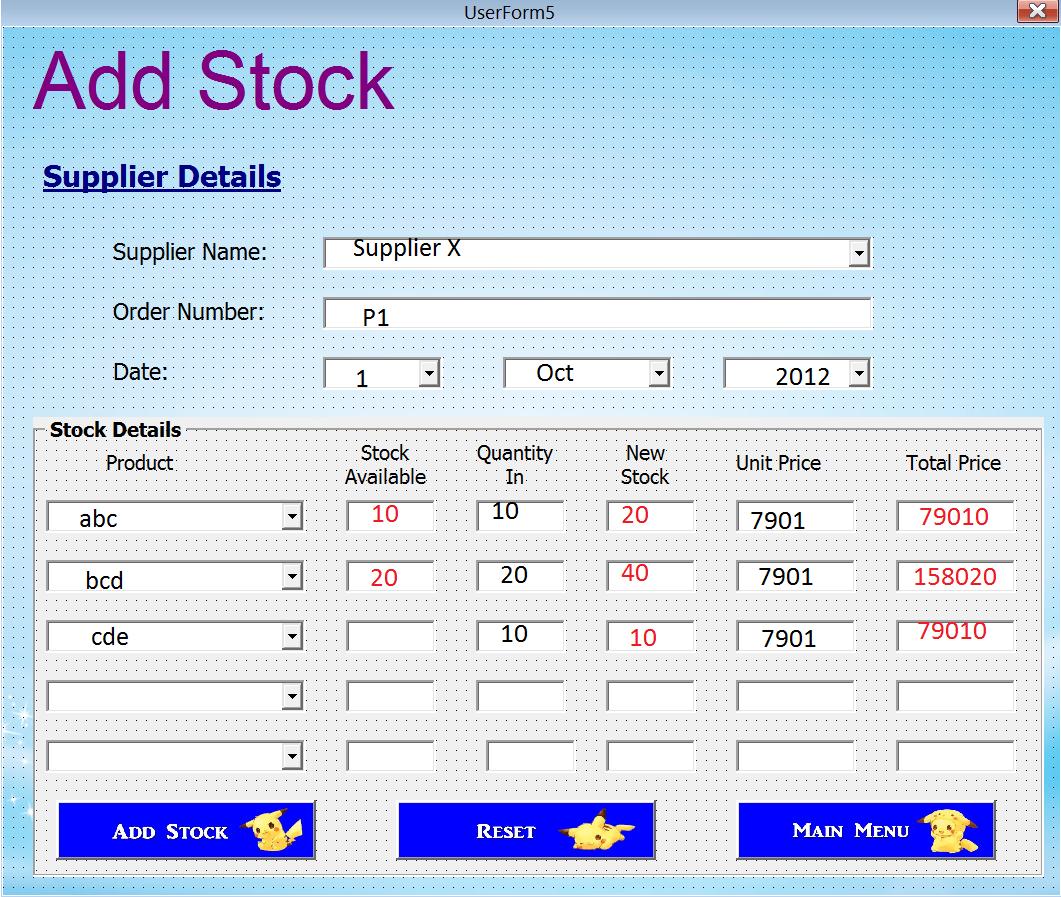Excel Vba Spreadsheet In Userform