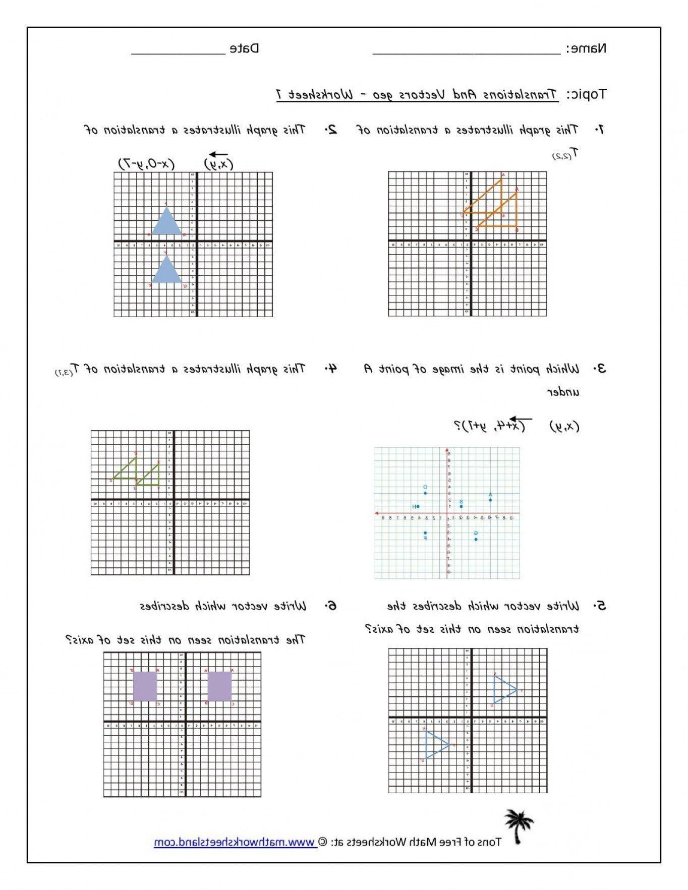 Translations Math Worksheets