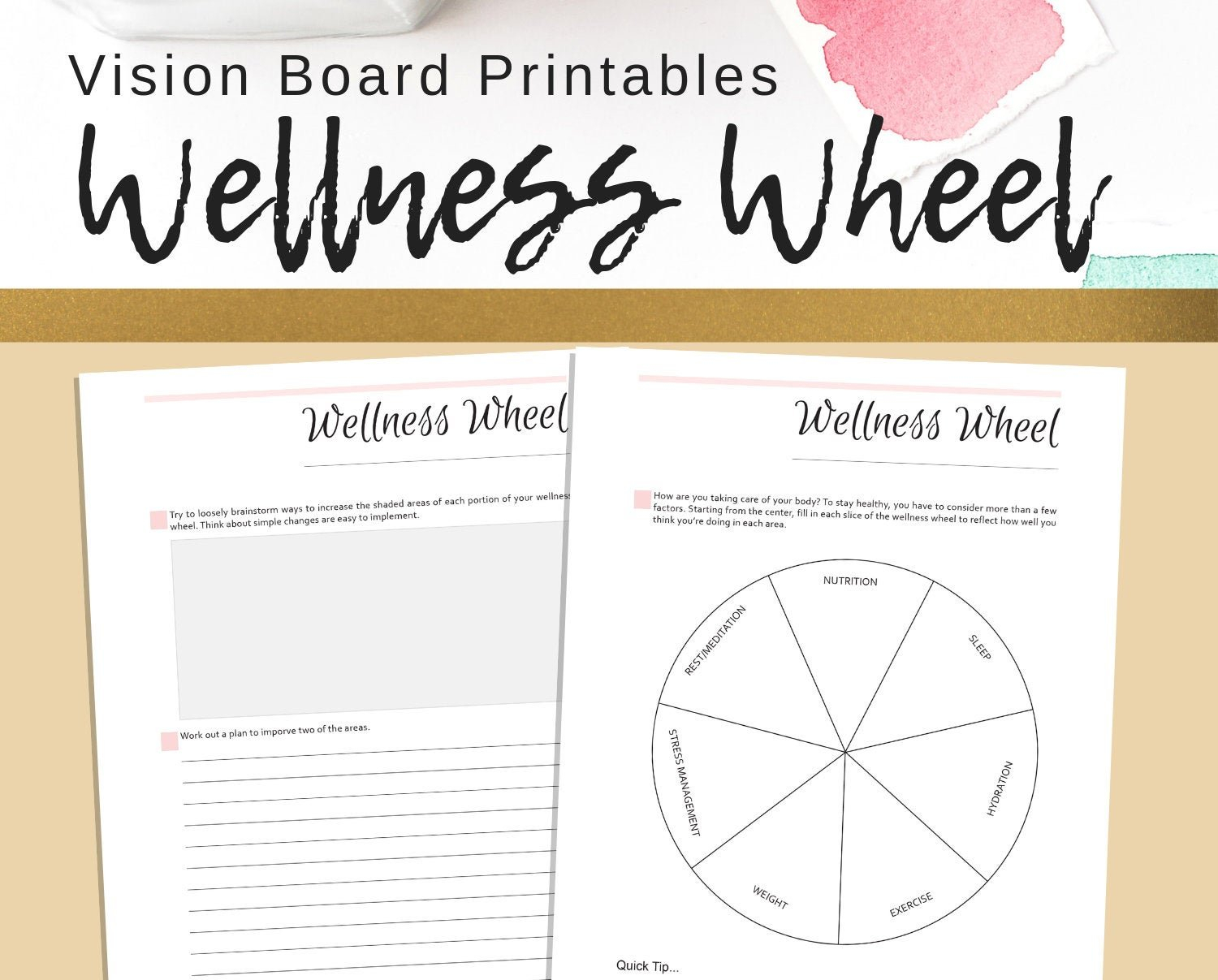 Wellness Wheel Worksheet