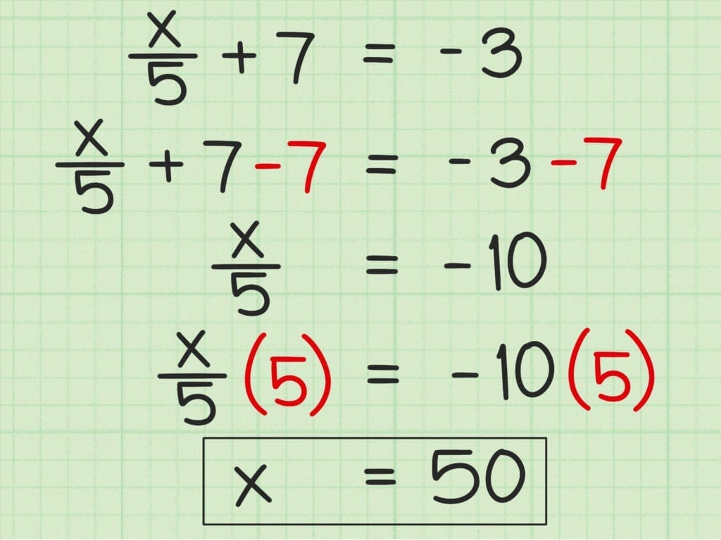 3 Ways To Solve Two Step Algebraic Equations Wikihow