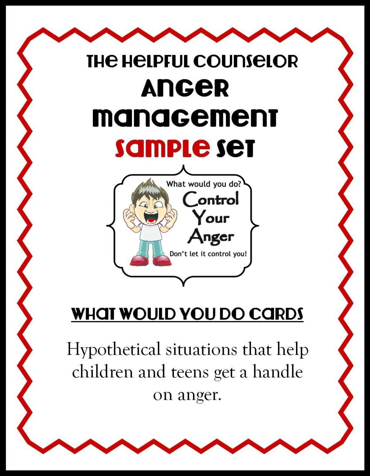 Anger Management Worksheets For Kids