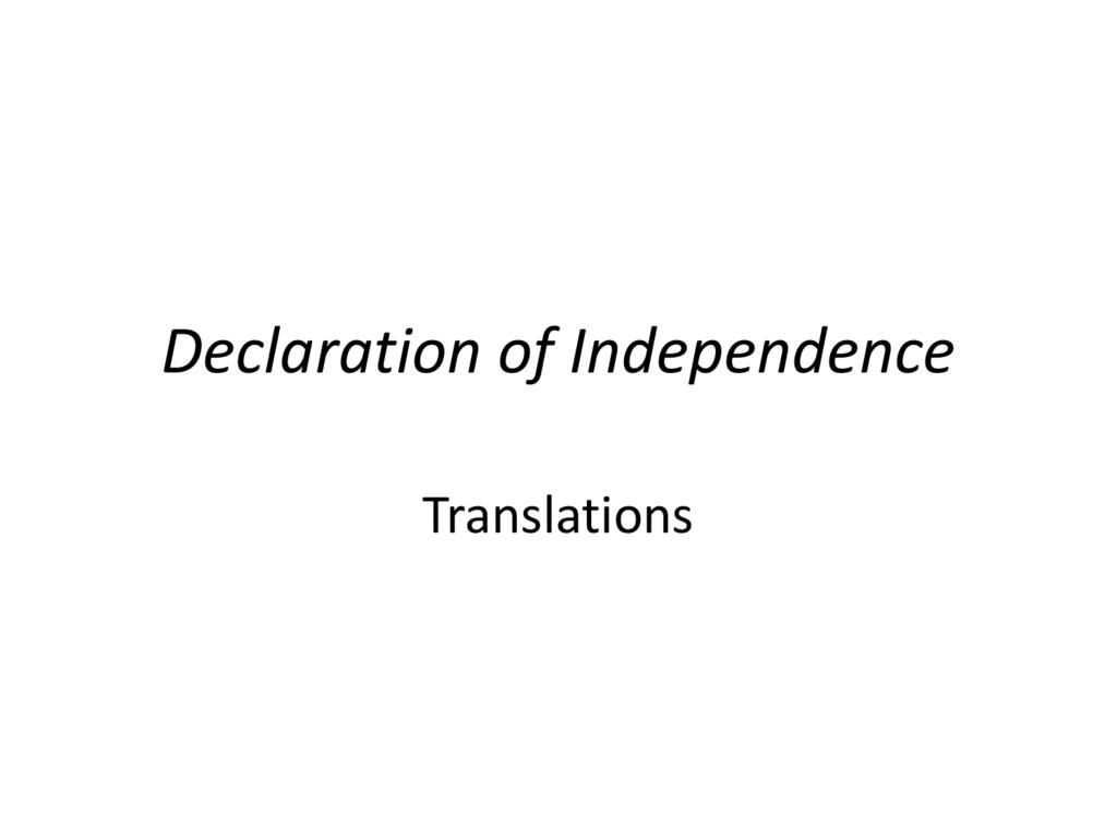 Answersdeclarationofindependencetranslation Pertaining To