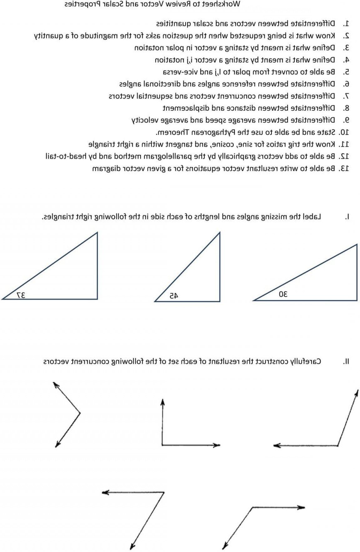 Pythagorean Theorem Review Worksheet