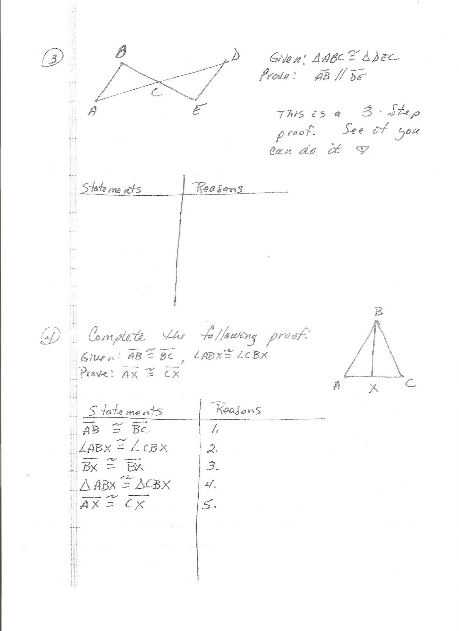 Proofs Worksheet 1 Answers