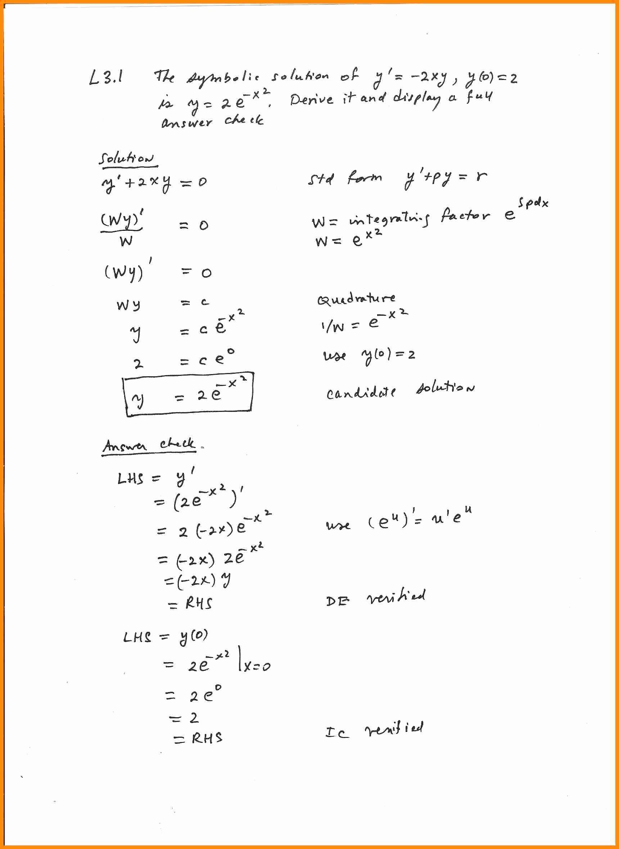 Substitution Method Worksheet Answer Key