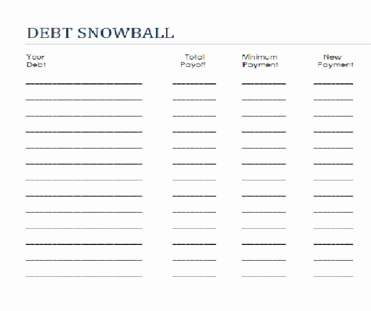 Dave Ramsey Debt Snowball Worksheets