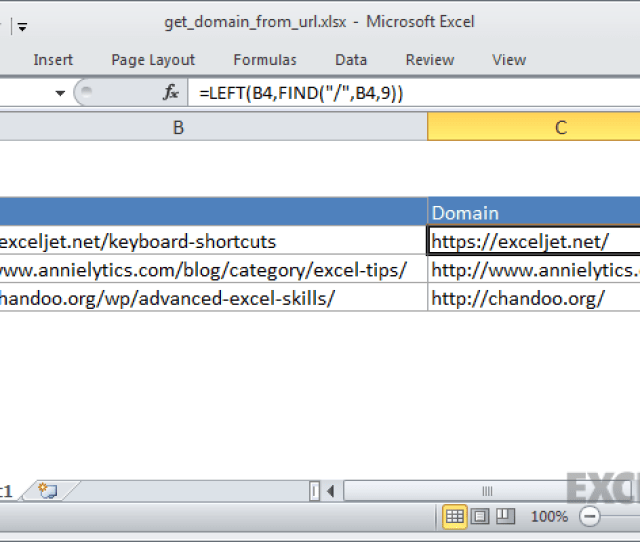 Excel Formula Get Domain Name From Url