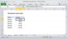 Excel Formula Get Sheet Name Only Exceljet