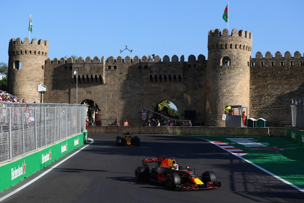 2017 Azerbaijan Grand Prix race action 1