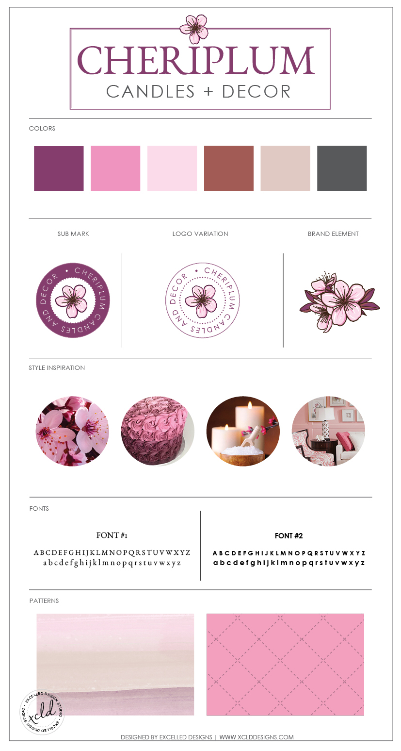 CheriPlumBB - Soy Candle Boutique Branding