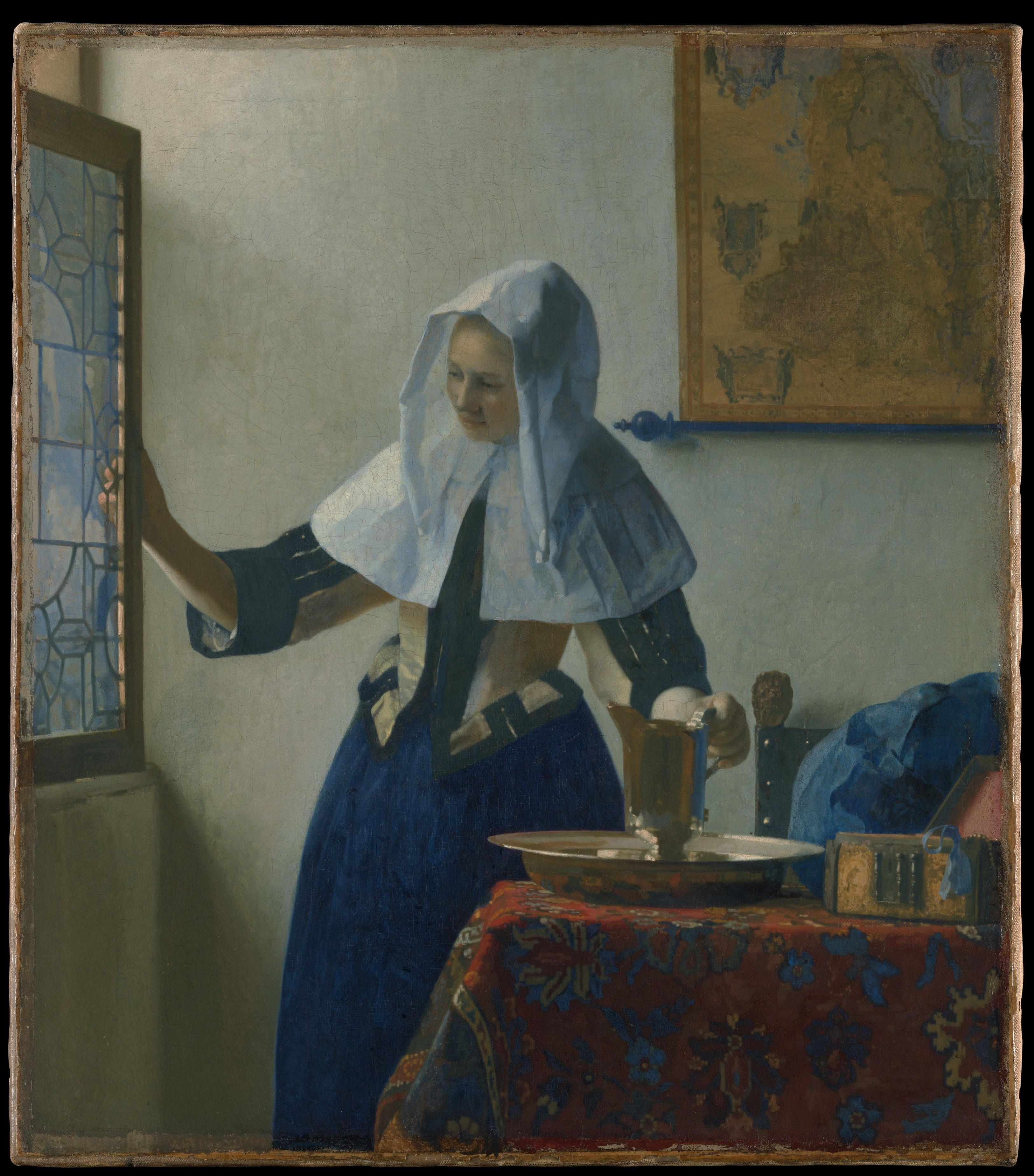 Johannes Vermmer used light beautifully in this painting of young woman with a pitcher.