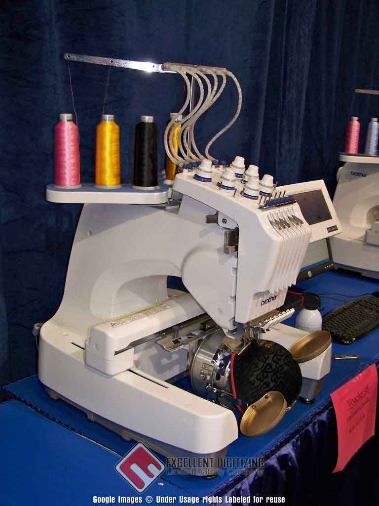 Machine embroidering